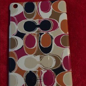 COACH Mini I-pad case. Multicolored Scarf design.